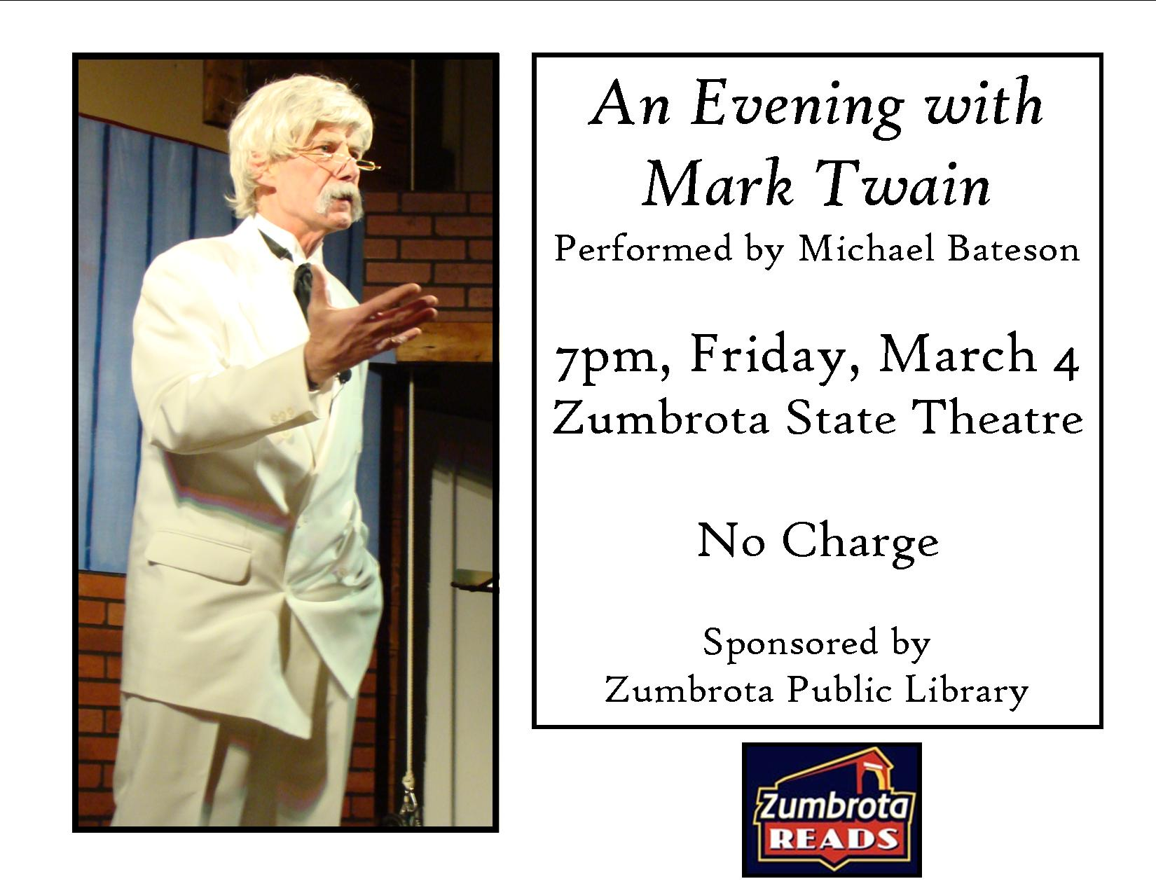 an evening with mark twain poster